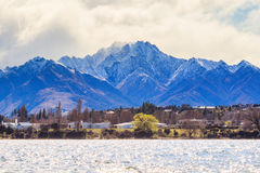 Beautiful scenic of lake wanaka in south island new zealand Royalty Free Stock Photos