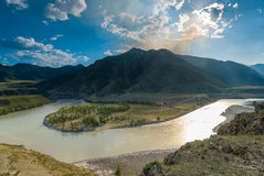Beautiful scenic landscape of the Altai Stock Photos
