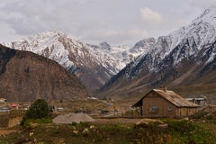 Beautiful scenic landscape of Karakorum Highway Stock Images