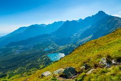 Beautiful scenic landscape, shot in the Tatra. Mountains In Poland stock image