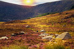Beautiful scenic mountain landscape.  Wicklow Mountains National Park, County Wicklow, Ireland Royalty Free Stock Image