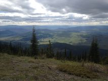 Beautiful scenic mountain view in Kamloops. Scenic mountain view Stock Photography