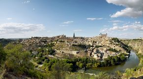 Beautiful scenic of old town city on Toledo Royalty Free Stock Photography