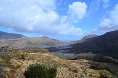 Beautiful Scenic Outlook Known as Ladies View in Ireland Royalty Free Stock Photo