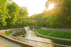 Beautiful scenic in the park Royalty Free Stock Photos