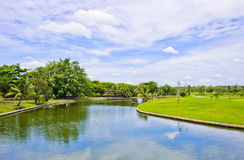Beautiful scenic in the park Royalty Free Stock Images