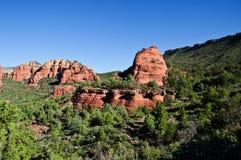 Beautiful scenic red sandstone rock landscape Stock Photo