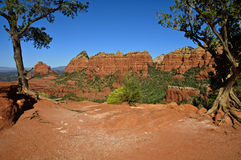 Beautiful scenic red sandstone rock landscape Stock Photography