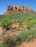 Beautiful scenic red sandstone rock landscape Stock Image