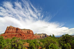 Beautiful scenic red sandstone rock landscape Royalty Free Stock Images