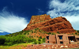 Beautiful scenic red sandstone rock landscape Royalty Free Stock Photography