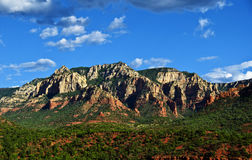 Beautiful scenic red sandstone rock landscape Stock Images