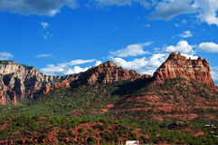 Beautiful scenic red sandstone rock landscape Stock Photo