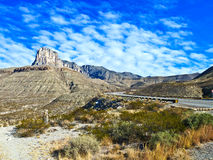 Beautiful scenic road in New Mexico Royalty Free Stock Photos