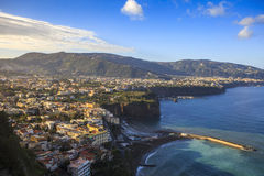 Beautiful scenic of sorrento coast line naple harbor south italy Stock Photography