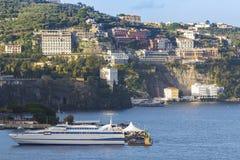 Beautiful scenic of sorrento coastal mediterranean sea southern Stock Photo