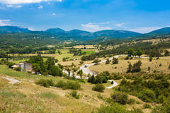 Beautiful Scenic View Landscape Near Village Of Trigance In Fran Stock Photo