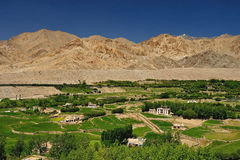 Beautiful scenic view of Leh valley Royalty Free Stock Image