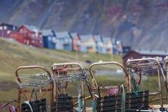 Beautiful scenic view of Longyearbyen (Svalbard island), Norway Royalty Free Stock Photo