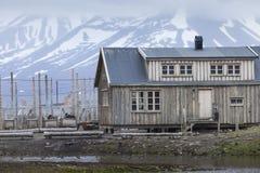 Beautiful scenic view of Longyearbyen (Svalbard island), Norway Stock Photos
