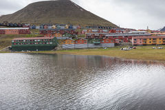 Beautiful scenic view of Longyearbyen (Svalbard island), Norway Royalty Free Stock Photography