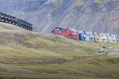 Beautiful scenic view of Longyearbyen (Svalbard island), Norway Royalty Free Stock Images