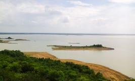 Mahanadi river. Beautiful scenic view of Mahanadi River in Sambalpur of Odisha Royalty Free Stock Image