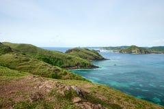 Beautiful scenic view of the mountain coast Stock Photos