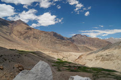 Beautiful scenic view of mountain in  Nubra valley,Ladakh, India Royalty Free Stock Images