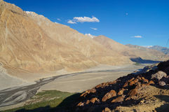 Beautiful scenic view of Nubra Valley in Ladakh,India Royalty Free Stock Photography