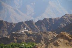 Beautiful scenic view of Shanti Stupa  in Ladakh,India Stock Photo