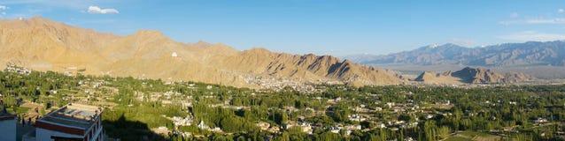 Beautiful scenic view from Shanti stupa in Leh,Ladakh, India Stock Images