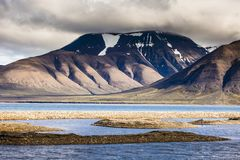 Beautiful scenic view of Spitsbergen (Svalbard island), Norway Royalty Free Stock Images