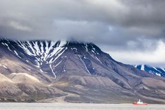 Beautiful scenic view of Spitsbergen (Svalbard island), Norway Royalty Free Stock Image