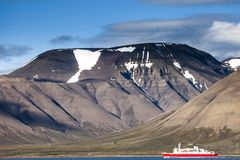 Beautiful scenic view of Spitsbergen (Svalbard island), Norway Royalty Free Stock Photo