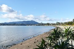 Beautiful Scenic View In Tiburon California With Mount Tamalpais In Background High Quality