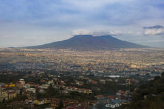 Beautiful scenic of volcano vesuvius southern of italy Royalty Free Stock Photography