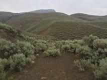 Beautiful scenic wilderness hike. Hiking in the rain Royalty Free Stock Photo
