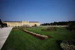 Beautiful schonbrunn baroque palace Royalty Free Stock Photography