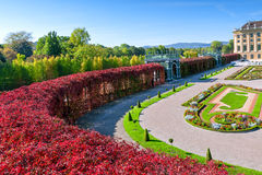 The beautiful Schonbrunn Palace in Vienna. During autumn day Royalty Free Stock Image