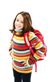 Beautiful school girl ready to her first day of school Royalty Free Stock Images