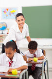 Beautiful school teacher Stock Images