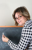 Beautiful School Teacher Stock Photo