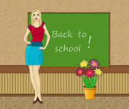 Beautiful school teacher Royalty Free Stock Photos