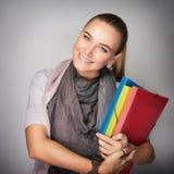 Beautiful schoolgirl portrait Stock Photos