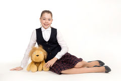 The beautiful schoolgirl royalty free stock photography