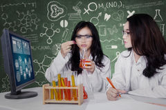 Beautiful scientists doing experiment Stock Photography
