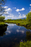 Beautiful Scotland with River Stock Image