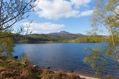Beautiful Scottish Loch Garry Scotland UK lake west of Invergarry on the A87 south of Fort Augustus and north of Fort William Stock Photos