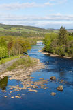 Beautiful Scottish river Pitlochry Scotland UK River Tummel in Perth and Kinross a popular tourist destination Royalty Free Stock Photos